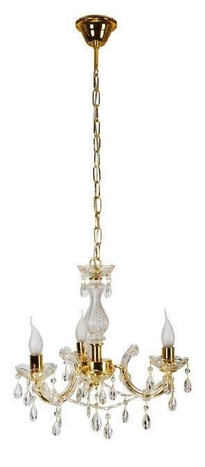 Lampa wisząca żyrandol z kryształkami złoty 3x40W Maria Teresa Candellux 33-94639