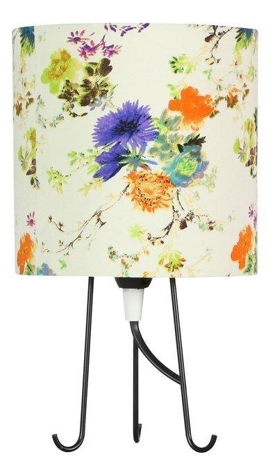 Lampka stołowa gabinetowa niebieskie kwiaty 40W E14 Micra 41-34755