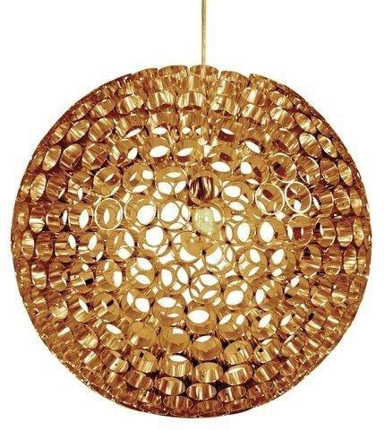 Nowoczesna  lampa sufitowa wykona z metalowych rurek w kolorze miedzi Candellux Abros 31-09074 1xE27
