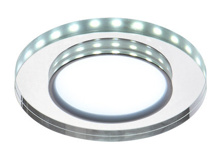 Oprawa stropowa oczko Candellux SSP-23 CH/TR+WH 8W LED 230V RING LED BIAŁY