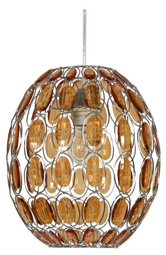 LAMPA SUFITOWA WISZĄCA CANDELLUX SELMA 31 02860 E27 POMARAŃCZOWY