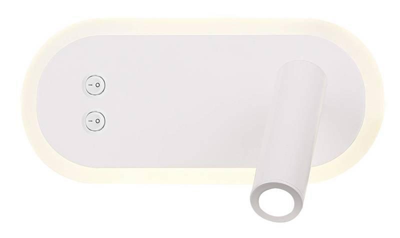 Kinkiet LED lampka do czytania biały regulowany Miracle Candellux 22-76014