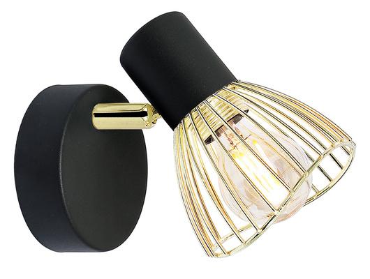 Kinkiet pojedynczy 1X40W E14 czarno-złoty lampa ścienna Fly 91-61874