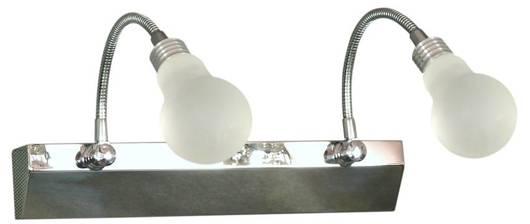LAMPA ŚCIENNA KINKIET CANDELLUX ACRYLIC 22-27054  LED CHROM BIAŁY