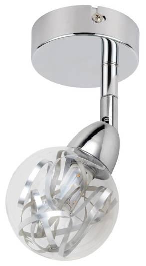 LAMPA ŚCIENNA KINKIET CANDELLUX BOLO 91-67517  LED SMD GŁÓWKA  OKRĄGŁA  Z PRZEGUBEM KLOSZ WYMIENNY   CHROM/BEZBARWNY