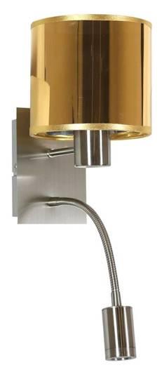 LAMPA ŚCIENNA KINKIET CANDELLUX SYLWANA 21-29454  E14 + LED Z WYŁĄCZNIKIEM SATYNA NIKIEL / ZŁOTY