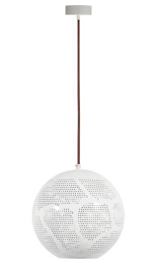LAMPA SUFITOWA WISZĄCA CANDELLUX BENE 31-70579  KULA   E27 AŻUROWY BIAŁY