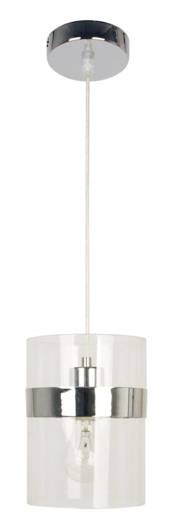 LAMPA SUFITOWA WISZĄCA CANDELLUX BRANDO 31-28044   E27 CHROM / TRANSPARENT