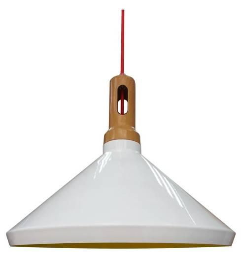 LAMPA SUFITOWA WISZĄCA CANDELLUX ROBINSON 31-37671   E27 BIAŁY / WNĘTRZE ŻÓŁTE
