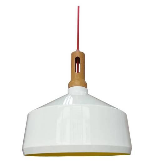 LAMPA SUFITOWA WISZĄCA CANDELLUX ROBINSON 31-37688   E27 BIAŁY / WNĘTRZE ŻÓŁTE