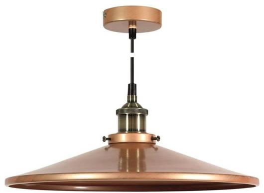 LAMPA SUFITOWA WISZĄCA CANDELLUX TILA 31-31334   E27 KLOSZ NISKI MIEDZIANY
