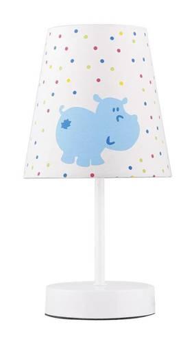 Lampa Stołowa Candellux Hippo 41-43736 E14 Płótno Niebieski Promocja