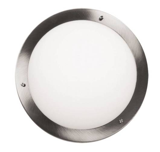 Lampa Sufitowa Candellux Aquila 13-84197 Plafon E27 Satyna Nikiel Ip44