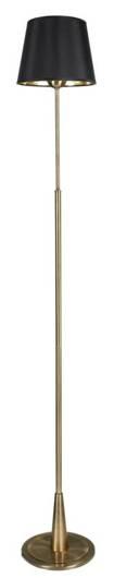 Lampa podłogowa patynowa czarny abażur z tkaniny Candellux Milonga 51-53633