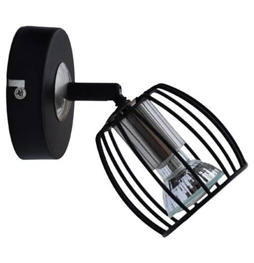Lampa ścienna kinkiet 1X3W LED GU10 czarny matowy+satyna ZONK 91-54319