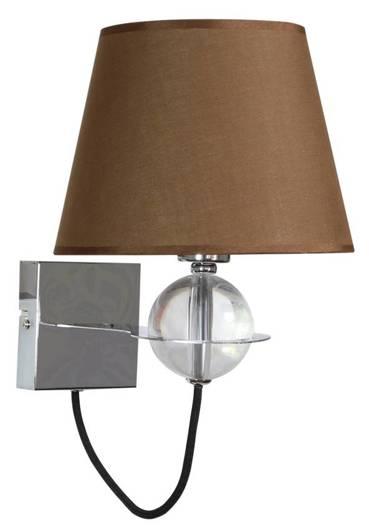Lampa ścienna kinkiet 1X40W E14 brązowy TESORO 21-29539