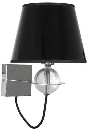 Lampa ścienna kinkiet 1X40W E14 czarny złoty środek TESORO 21-29508