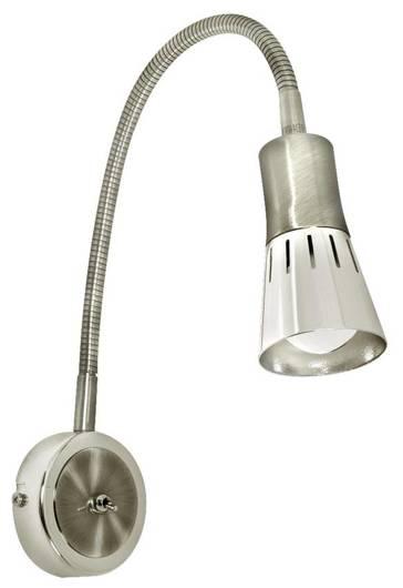 Lampa ścienna kinkiet 1X40W E14 nikiel mat ARENA 91-94776