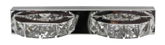 Lampa ścienna kinkiet 2X3W LED kryształki stal nierdzewna SHIPI 22-45300