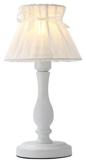 Lampa stołowa nocna biała abażur z organzy 40W E27 Zefir Candellux 41-73815