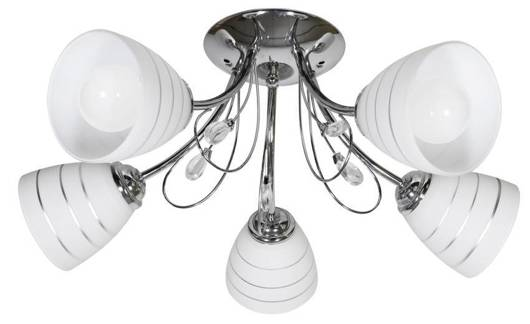 Lampa sufitowa chromowana z kryształkami 5x40W Simpli Candellux 35-63854