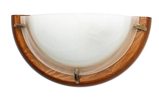 Lampa sufitowa plafon 1/2 1X60W dąb DUNA 11-64120