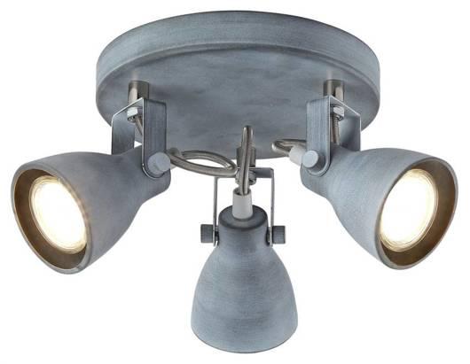 Lampa sufitowa plafon 3X40W GU10 szary matowy Ash 98-64325