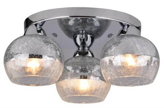 Lampa sufitowa plafon 3X60W E27 chrom CROMINA 98-55637