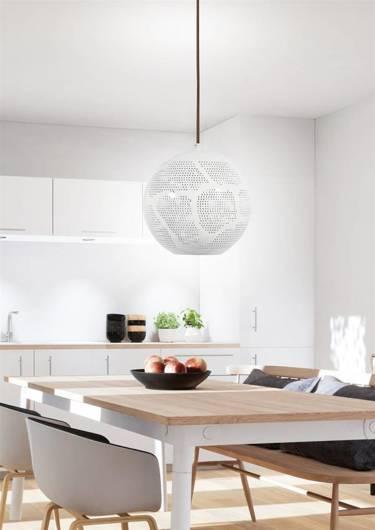 Lampa sufitowa wisząca 1X60W E27 ażurowy biały BENE 31-70579
