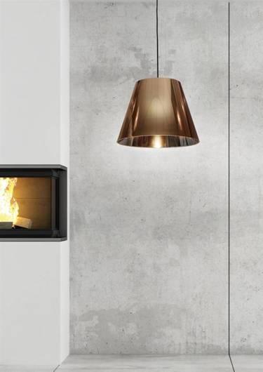 Lampa sufitowa wisząca 1X60W E27 miedziany PLATINO 31-38302