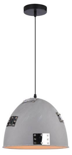 Lampa sufitowa wisząca 1X60W E27 szary + chrom PATCH 31-43160