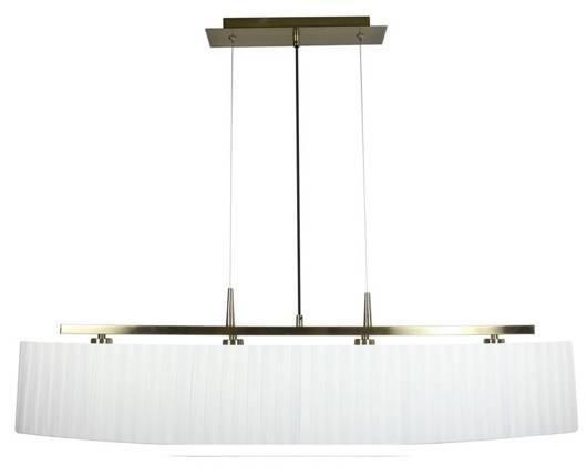 Lampa sufitowa wisząca 4X40W E14 patyna abażur biały BERG 34-45218