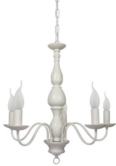 Lampa sufitowa wisząca 5X40W E14 kremowy BELLAGIO 35-96503