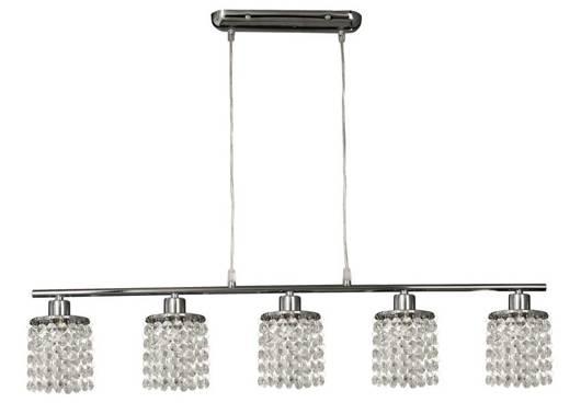 Lampa wisząca chrom z kryształkami białymi 5x40W Royal Candellux 35-28115
