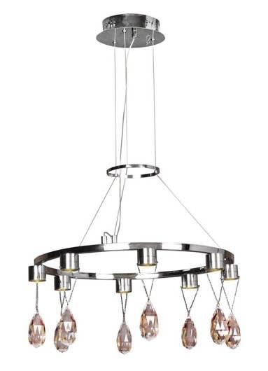 Lampa wisząca chromowa LED z kryształkami 8x3W Prisma Candellux 38-26064