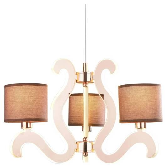 Lampa wisząca miedziana 3x40W + LED 18,4W żyrandol Ambrosia Candellux 33-33888