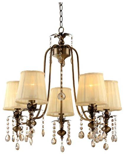 Lampa wisząca regulowana żyrandol patynowy 5x40W Adonis Candellux 35-13866