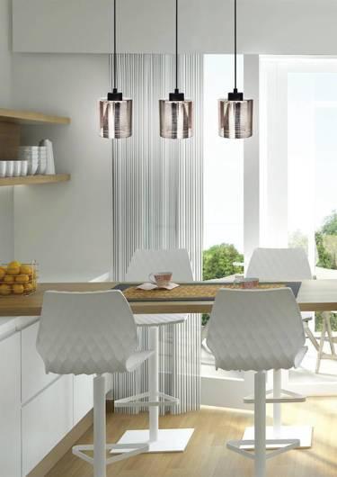 Lampa wisząca sufitowa chromowa szklana 3x60W Cox Candellux 33-53886