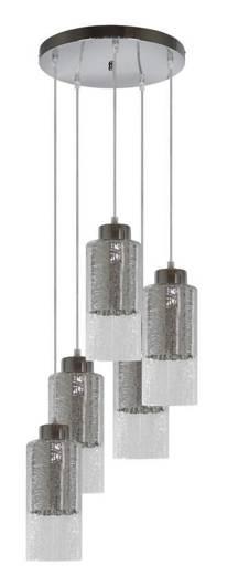 Lampa wisząca sufitowa srebrna szklane klosze 5x60W Libano Candellux 35-51813