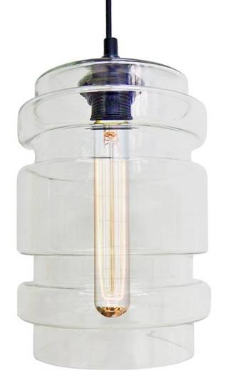 Lampa wisząca szklana bezbarwna + żarówka E27 60W Decorado Candellux 31-36674