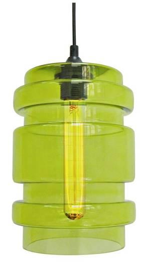 Lampa wisząca szklana zielona + żarówka E27 60W Decorado Candellux 31-36650