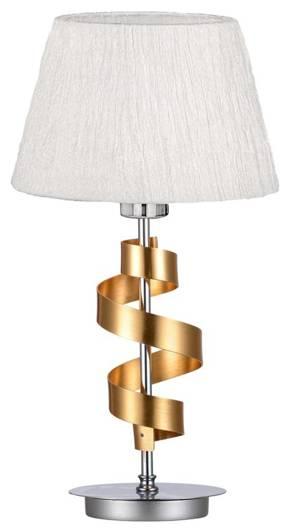 Lampka stołowa chrom/złoty gabinetowa biały abażur Denis Candellux 41-23483