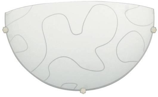 Plafon biały szklany lampa ścienna Malibu 11-84081