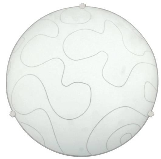 Plafon biały szklany sufitowy Malibu 13-84074